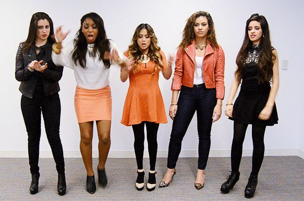 You just dropped your burrito: | All The Fifth Harmony Reaction GIFS You'll Ever Need. Hahaa Normani ;)