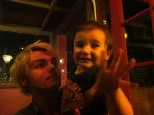 Bandit Lee Way and her amazing daddy, Gerard Auther Way!!! <3 this is so fucking cute omg
