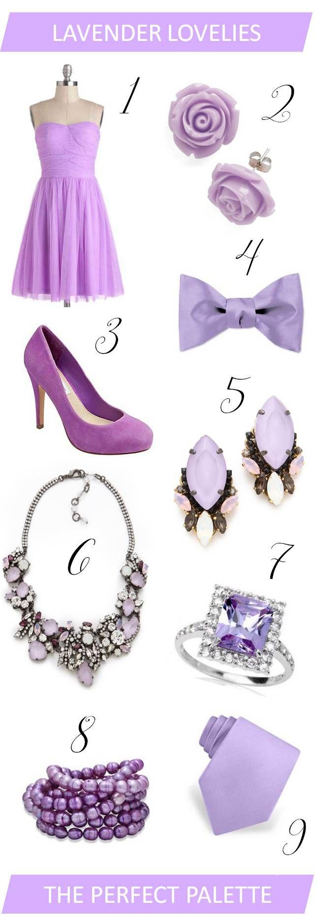 {wedding wardrobe}: lavender lovelies! http://www.theperfectpalette.com/2013/01/wedding-wardrobe-lavender-lovelies.html