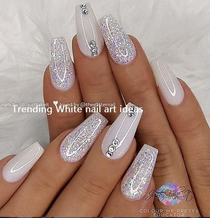 Más de 30 ideas de diseño de uñas blancas simples y de tendencia # uñas