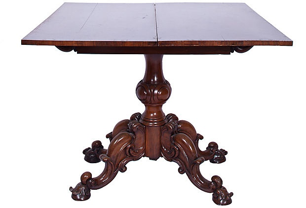Victorian Folding Game Table on OneKingsLane.com