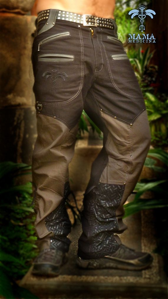 Mama's Gypsy Warrior Men's Pants. Deeply detailed, relaxed fit. Exclusive to Mama Medicina. Made ethically. Genuine leather highlights.