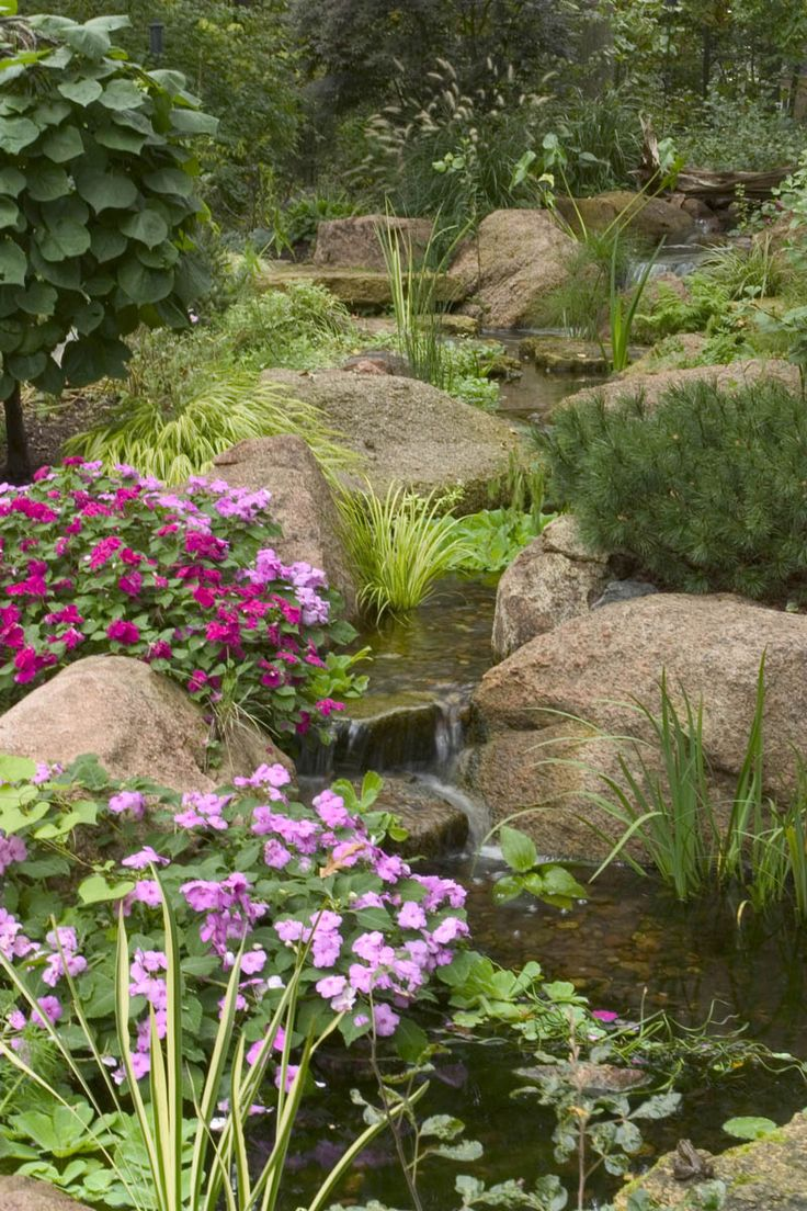 Backyard garden water - Landscape Edging Ideas For Water Features Backyard Pondsgarden