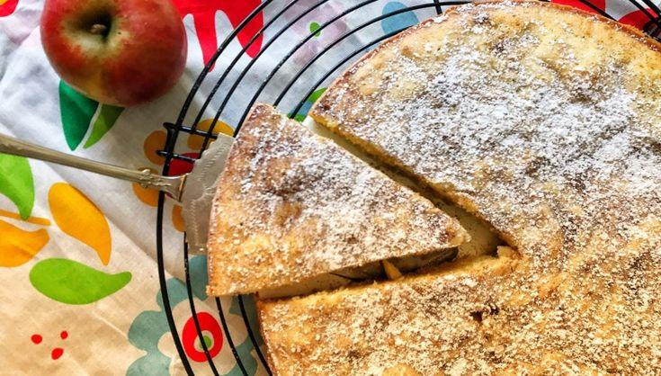 Schwedischer Apfelkuchen: Kladdkaka mit Äpfeln   – Apfel quark kuchen
