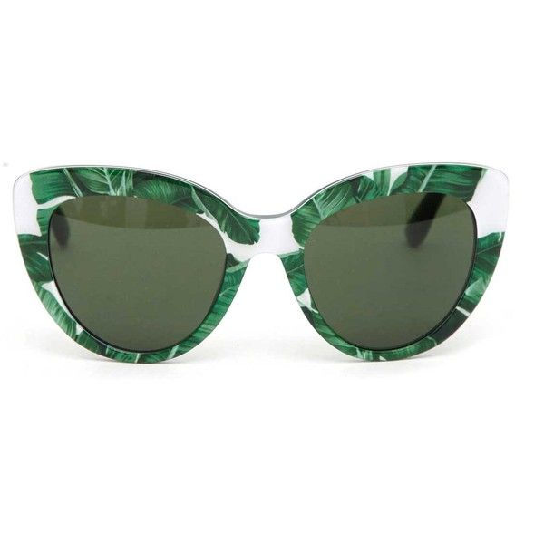 DOLCE & GABBANA Banano printed 'escape' sunglasses (1,630 BOB) ❤ liked on Polyvore featuring accessories, eyewear, sunglasses, dolce gabbana glasses, dolce gabbana eyewear and dolce gabbana sunglasses