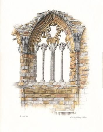Whitby Abbey Window, Paintings and Drawings, Howard Levitt.