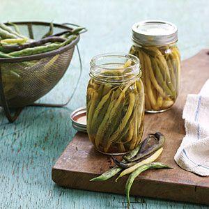 Crunchy Homemade Pickling Recipes  | Pickled Dilled Beans | MyRecipes.com