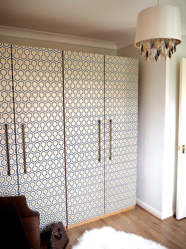 Beautify Old Furniture With Wallpaper Wardrobe Makeover With Wallpaper Furniture Makeover Ikea Wardrobe Diy Furniture Bedroom