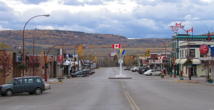7.  Downtown Dawson Creek Mile Zero marker