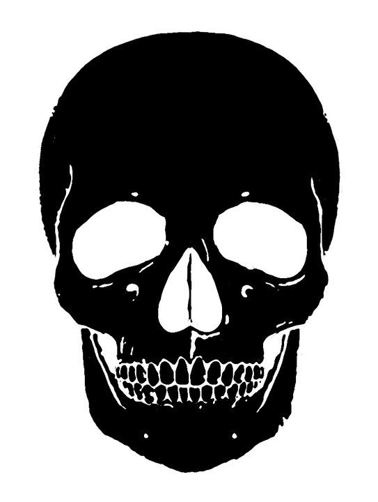 painting skull painting skull silhouette skull stencil make a stencil. Black Bedroom Furniture Sets. Home Design Ideas