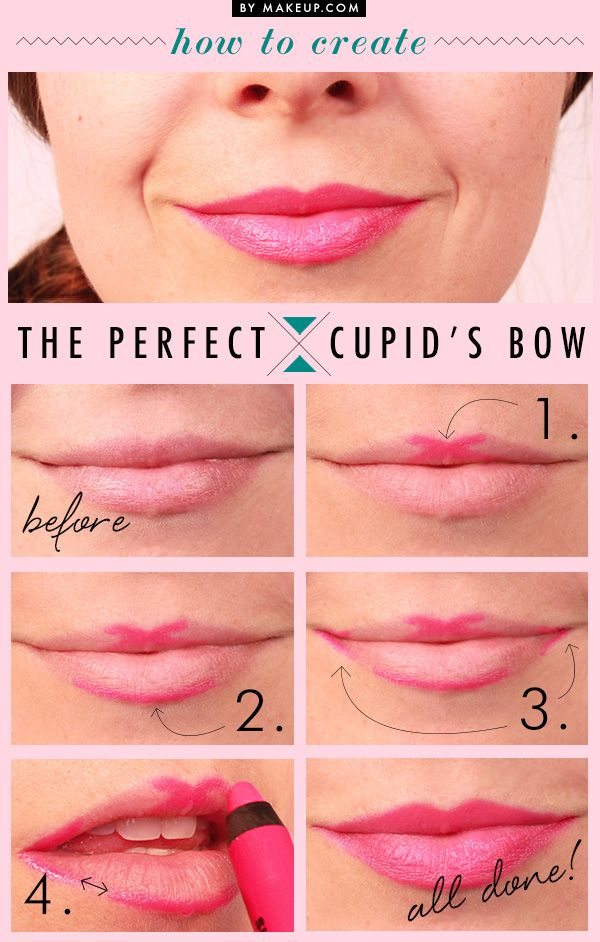 how to get fuller, shapely lips with the cupid's bow trick