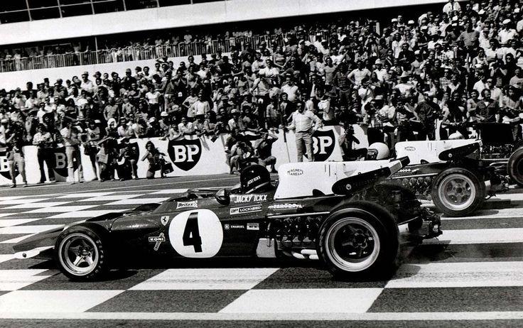 acky Ickx (BEL) (Scuderia Ferrari), Ferrari 312B2 - Ferrari F12 and  Clay Regazzoni (SUI) (Scuderia Ferrari), Ferrari 312B2 - Ferrari F12,  1971 French Grand Prix, Circuit Paul Ricard