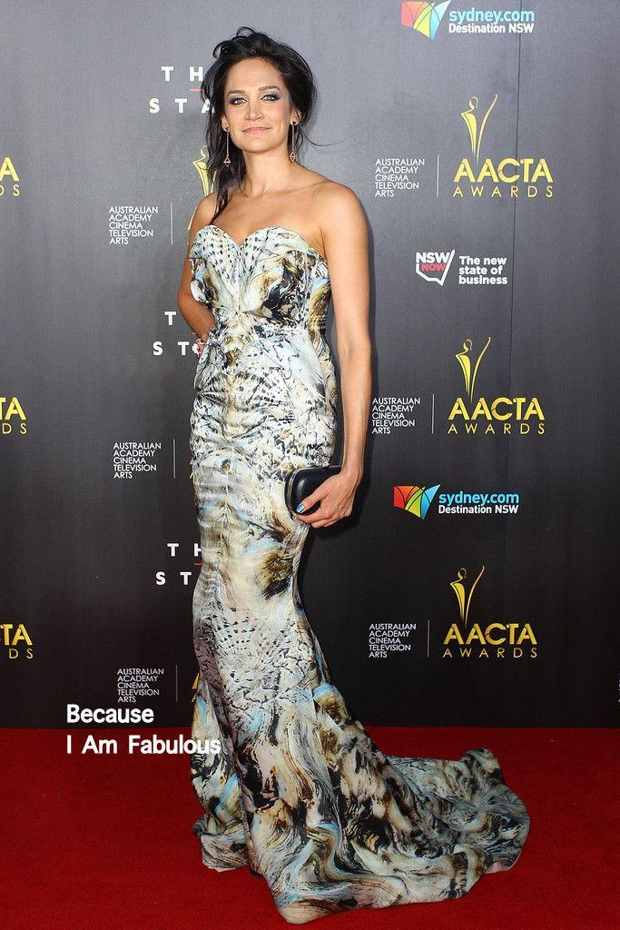 Fabulously Spotted: Nicole da Silva Wearing Leah da Gloria - 3rd Annual AACTA Awards - http://www.becauseiamfabulous.com/2014/01/nicole-da-silva-wearing-leah-da-gloria-3rd-annual-aacta-awards/