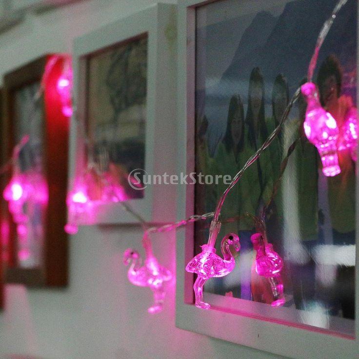 10 LED Flamingo Fairy String Light Indoor Outdoor Party Wedding Christ – Mitilen.com