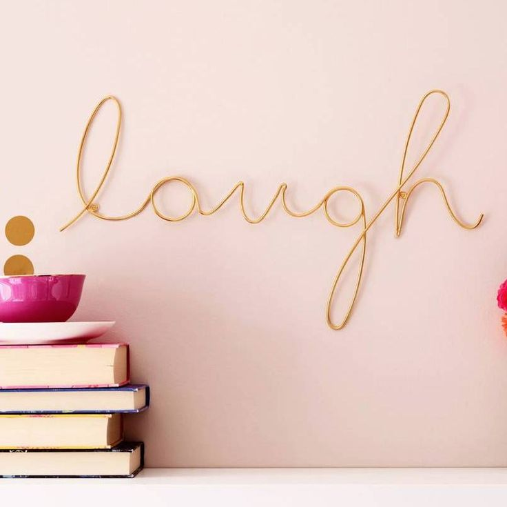 Wall art with a difference - metal words in script lettering to hang on your wall