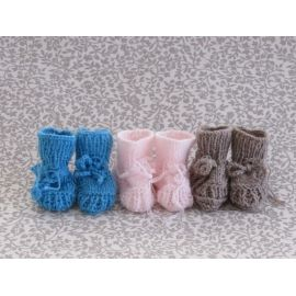 Handknitted Baby Booties