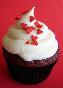 ハートデコレーションカップケーキ