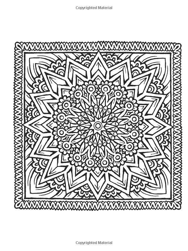square mandala coloring pages - photo#20