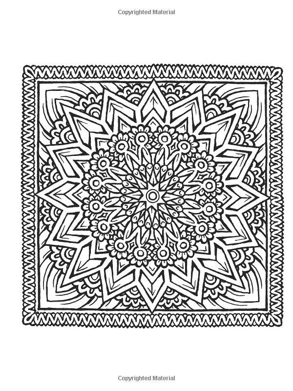 square mandala coloring pages - photo#25