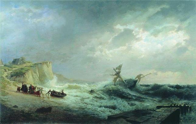 Лагорио Л.Ф. Шторм  1860 (Ростовский областной музей изобразительных искусств)