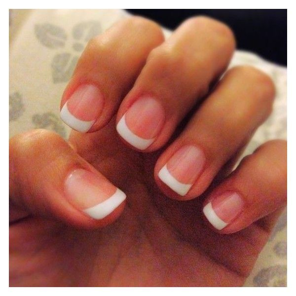 Shellac french manicure ❤ liked on Polyvore featuring beauty products, nail care and manicure tools
