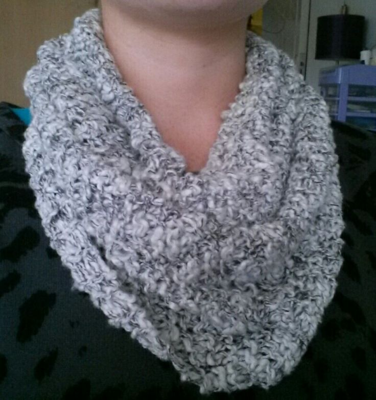 Knitted snood. By Tracy.