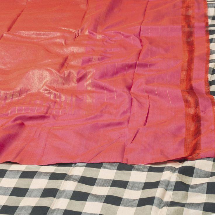 Sailesh Singhania Handwoven Ikat Silk Sari 1003163 - Sari / All Saris - Parisera