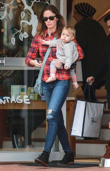 Emily Blunt Hazel Krasinski Photos: Emily Blunt Takes Hazel Shopping