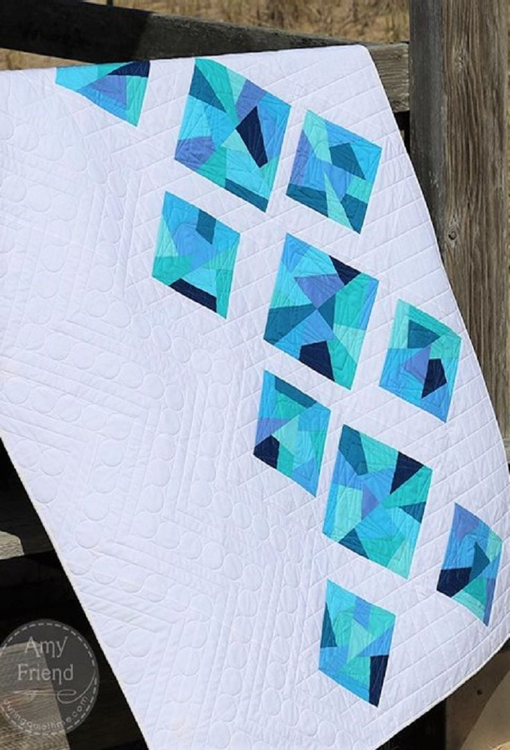 best  contemporary quilts ideas on pinterest  modern quilt  - sea glass quilt