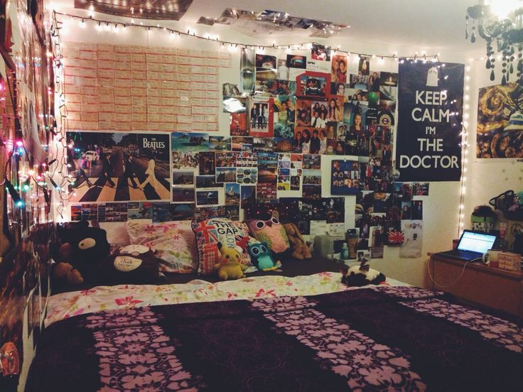 Here 39 s an idea you could print out a lot of pictures you like and buy of photos and hang - Cute bed sets tumblr ...