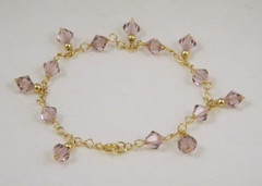 Light Rose Crystal Bracelet