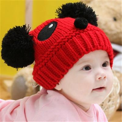 Knitting wool Panda style loveable Baby's Caps