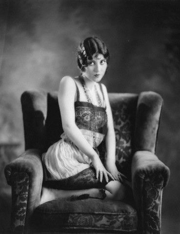 "Olive Borden, c.1925 Olive Borden was an American actress in silent and early talkies. Nicknamed ""The Joy Girl"", she was known for her jet-black hair and was considered one of the most beautiful actresses of her era. Many of her silent films have been lost and Olive Borden has become a ""forgotten"" star."