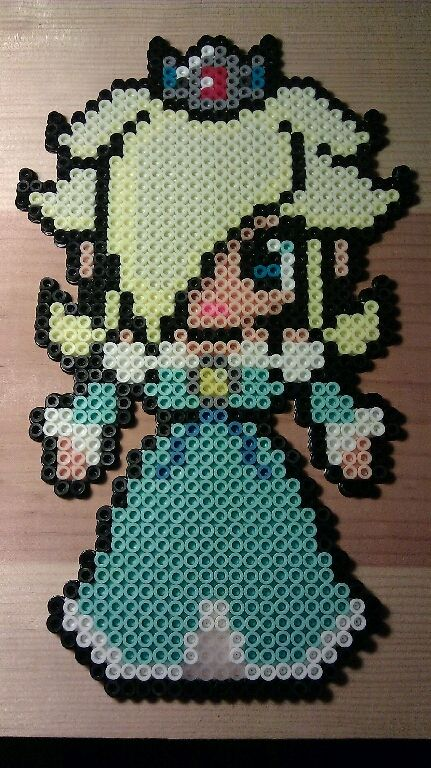 Rosalina perler bead sprite by Celestial-Guardian on deviantART