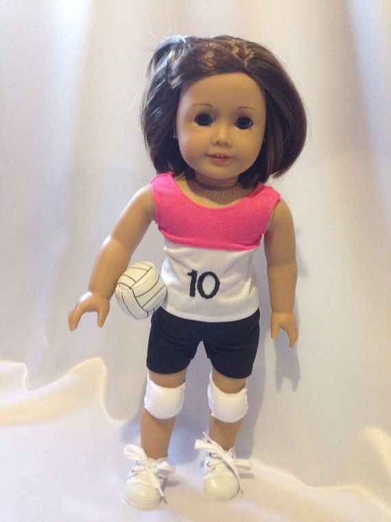 American Girl Doll Volleyball Outfit | Noelu0026#39;s Creations | Pinterest | Girl dolls Jersey and ...