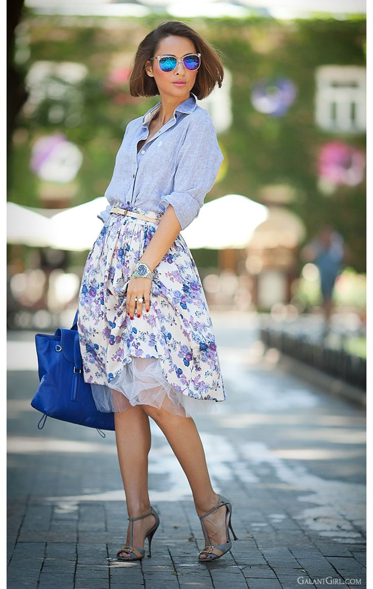 floral midi skirt by GalantGirl.com