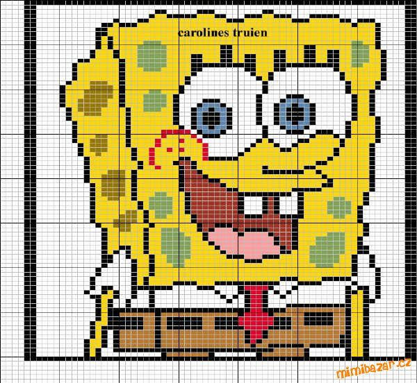 Křížkové vyšívání Sponge Bob