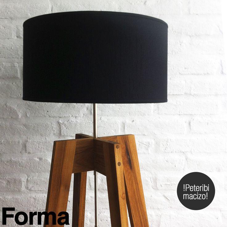 Lámpara de petiribí macizo Medidas Altura: 145cm Ancho: 42cm