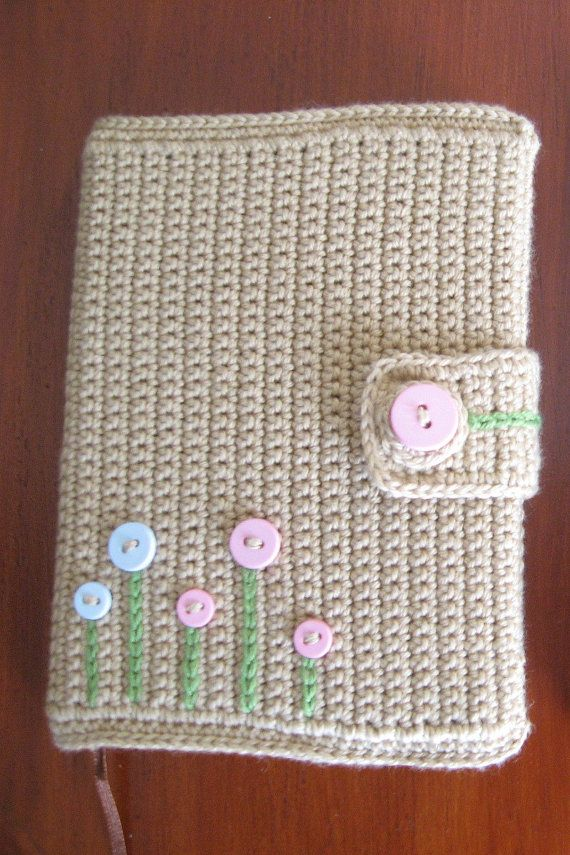 Book Cover Crochet ~ I crocheted something similar as a cover for my old missal