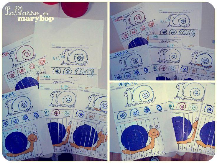 Escargot spirale maternelle graphisme la classe de marybop graphisme pinterest - Escargot maternelle ...