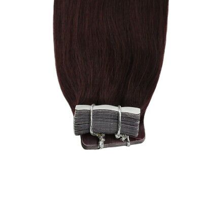 Details about Ugeat Grade 8A Wine Red Burgundy Skin Weft Tape in Remy Human Hair Extension 50g
