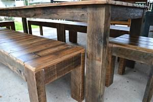 Rustic Slatted style Table Setting
