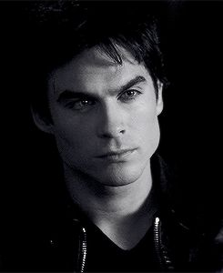 Ian Somerhalder as Damon Salvatore ❤ ❤ ❤ I'll try not to waste my whole day watching this!