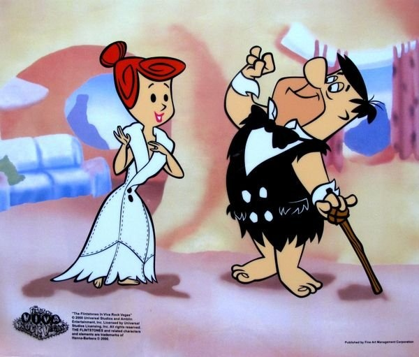 The Flintstones FRED AND WILMAS DATE Animation Sericel : Lot 155