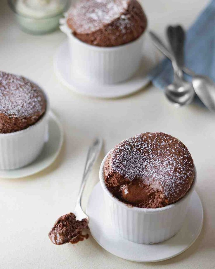 Individual Chocolate Souffles from Martha Stewart