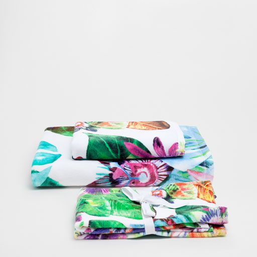 Image of the product FLORAL PRINT COTTON TOWELS