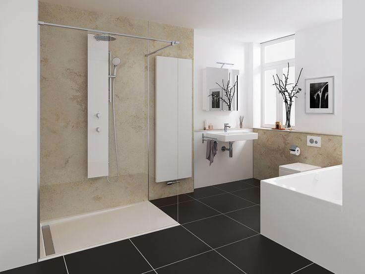 Ein Traum von einem Bad! Wie sieht dein Traumbad aus? Wunschzettel unter www.wohn-dir-was.de Bild: HSK
