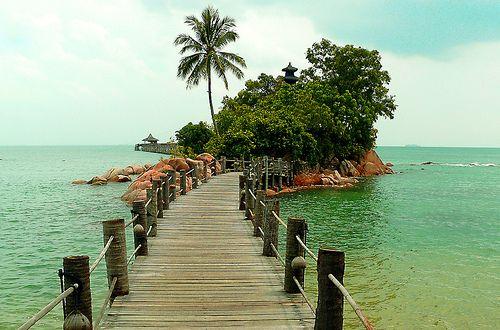 Batam Island  Indonesia-love the pathway...
