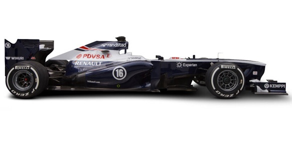 Williams is the last Formula One team to unveil their new car for the 2013 season.  http://grandprix20.com/2013/02/19/here-is-the-new-williams-fw35/  #williams #F1