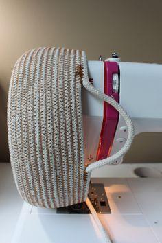 Sew ~ Clothesline Basket Tutorial ~ 100% cotton clothesline